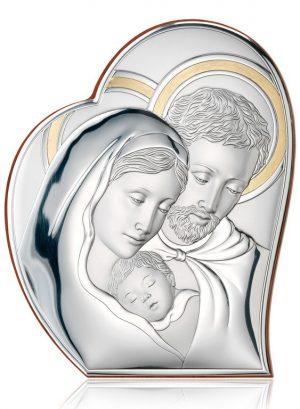 Ασημένια εικόνα Αγία Οικογένεια 81050/1L