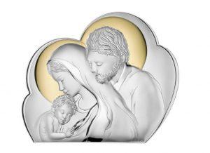 Ασημένια εικόνα Αγία Οικογένεια Valenti 81245/2L