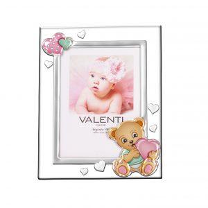 Ασημένια παιδική κορνίζα Valenti 9Χ13 73115/3LR