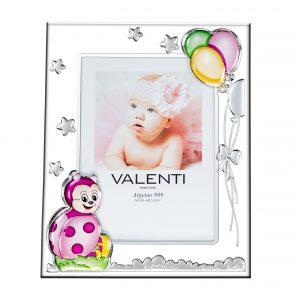 Ασημένια παιδική κορνίζα Valenti 9Χ13 73118/3LR