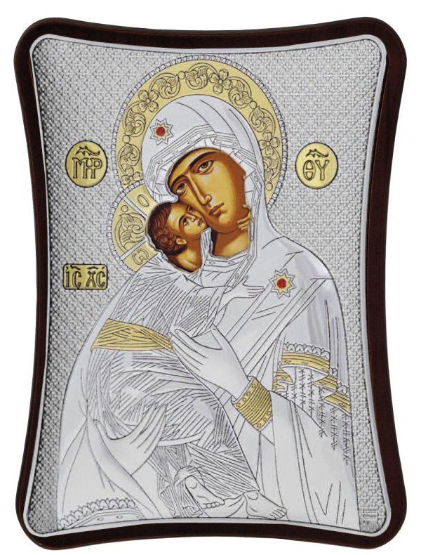 Ασημένια εικόνα Παναγία Βλαδιμήρ MA/E1410/1X