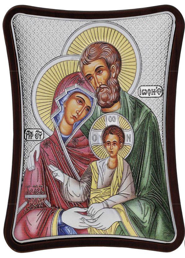 Ασημένια εικόνα Η Αγία Οικογένεια MA/E1405/1XC