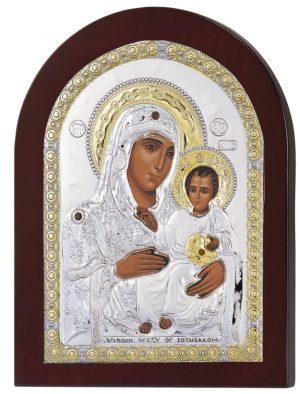 Ασημένια εικόνα Παναγία Ιεροσολυμίτισσα MA/E1102DX