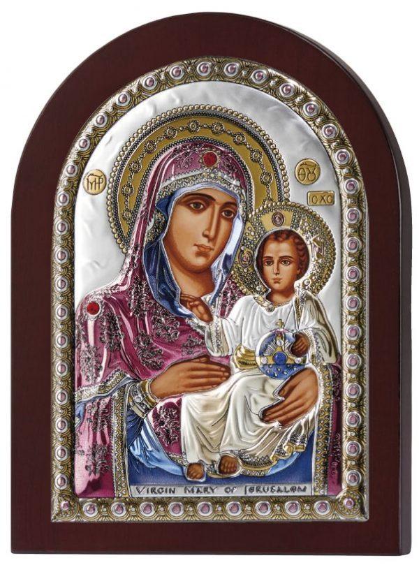 Ασημένια εικόνα Παναγία Ιεροσολυμίτισσα MA/E1102DXC