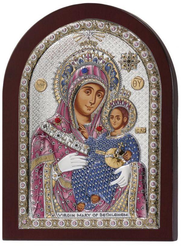 Ασημένια εικόνα Παναγία Βηθλεέμ Prince Silvero MA/E1109DXC