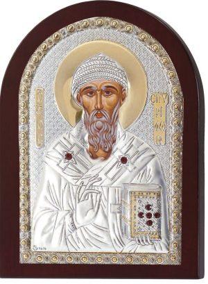 Ασημένια εικόνα Άγιος Σπυρίδωνας Prince Silvero MA/1111BX