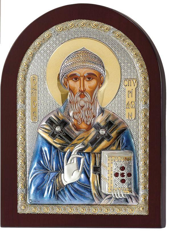 Ασημένια εικόνα Άγιος Σπυρίδωνας Prince Silvero MA/E1111BXC