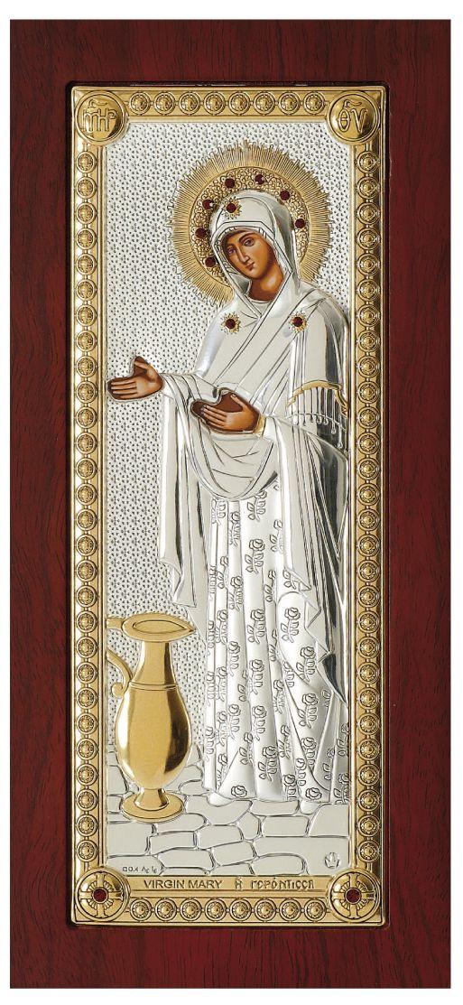 Ασημένια εικόνα Παναγία Γερόντισσα Prince Silvero MA/E1202BX