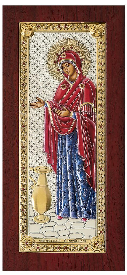 Ασημένια εικόνα Παναγία Γερόντισσα Prince Silvero MA/E1202BXC
