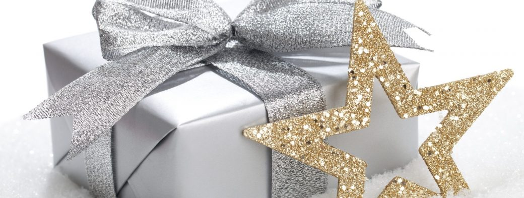 silver gift gold star