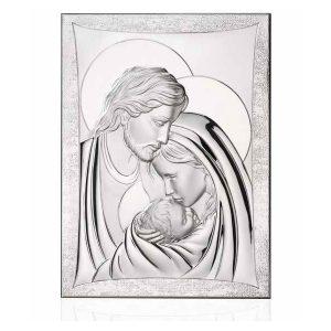 Ασημένια εικόνα Thilia η Αγία Οικογένεια 444071