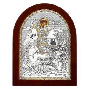 Ασημένια εικόνα Άγιος Γεώργιος ΜΕ40-010