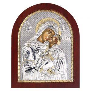 Ασημένια εικόνα Παναγία Γλυκοφιλούσα ΜΕ40-002