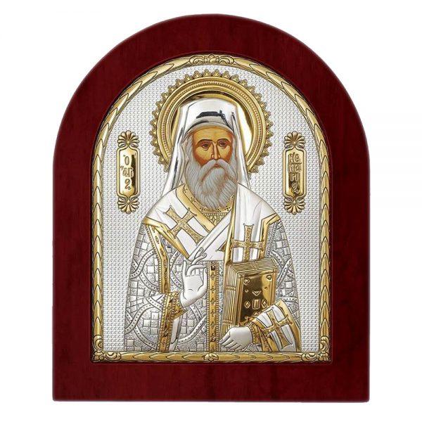 Ασημένια εικόνα Του Αγίου Νεκταρίου ΜΕ40-114