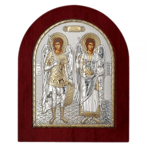 Ασημένια εικόνα Οι Άγιοι Ταξιάρχες ΜΕ40-033