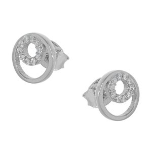 Ασημένιο σκουλαρίκι 9C-SC045-1