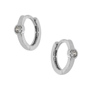 Ασημένιο σκουλαρίκι 925 9A-SC045-1