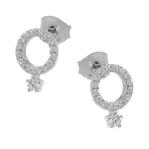 Ασημένιο σκουλαρίκι 925 CQ/SC448