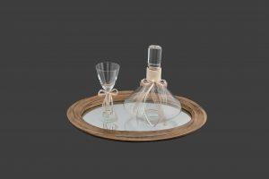Σετ γάμου καράφα-ποτήρι SK1021398