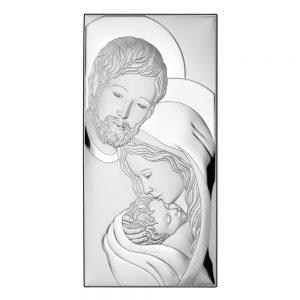 Ασημένια εικόνα Η Αγία Οικογένεια Valenti 81320/4XL