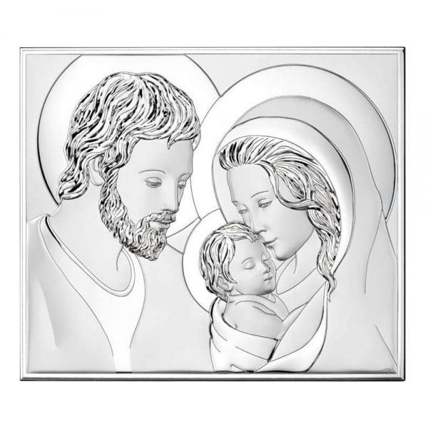 Ασημένια εικόνα Η Αγία Οικογένεια Valenti 81340/3L