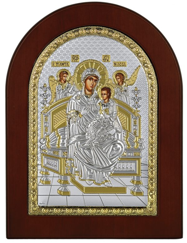 Ασημένια εικόνα Παναγία Παντάνασσα Prince Silvero MA/E1137BX
