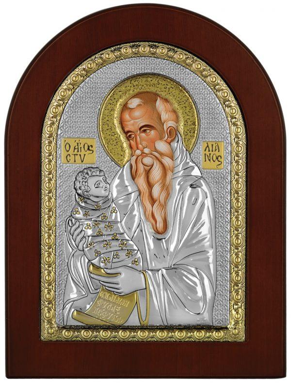 Ασημένια εικόνα Ο Άγιος Στυλιανός Prince Silvero ΜΑ/Ε1138ΒΧ