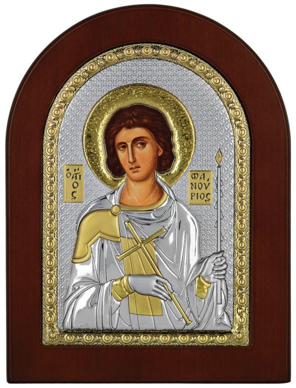 Ασημένια εικόνα Ο Άγιος Φανούριος Prince Silvero MA/E1139BX