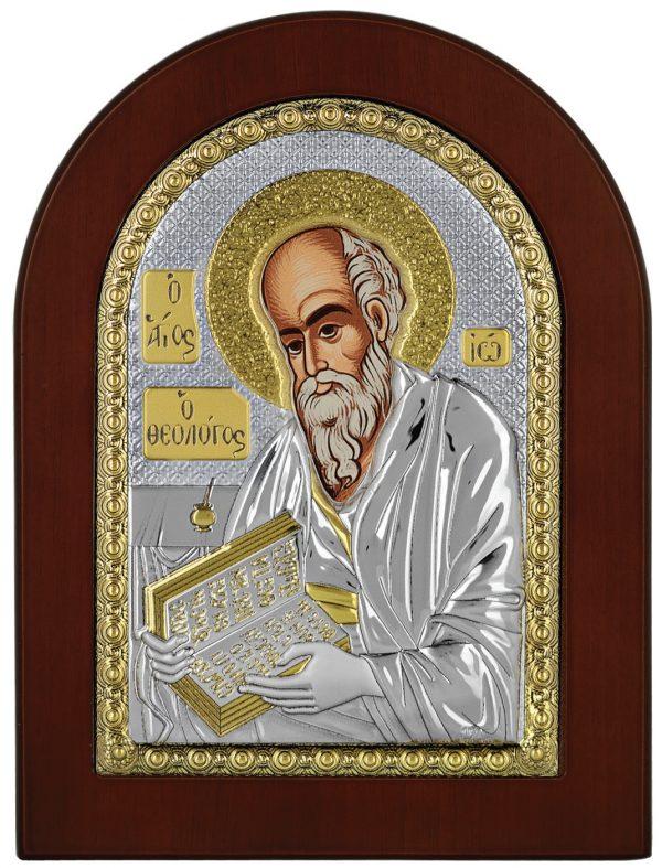 Ασημένια εικόνα Ο Άγιος Ιωάννης ο Θεολόγος Prince Sillvero MA/E1142BX