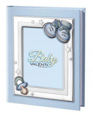 Παιδικό δερμάτινο άλμπουμ με ασημένια κορνίζα Valenti 25Χ30 73549/3C