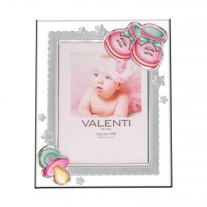 Ασημένια παιδική κορνίζα Valenti 13Χ18 73116/4LR