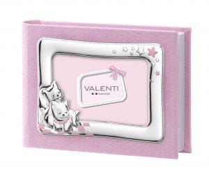 Παιδικό δερμάτινο άλμπουμ με ασημένια κορνίζα Valenti 73542/1R