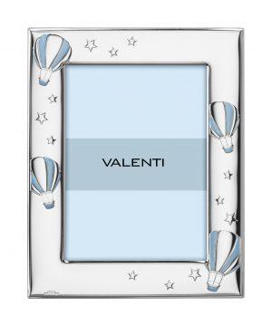 Ασημένια παιδική κορνίζα 9Χ13 Valenti 73129/3C