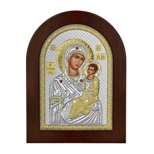 Ασημένια εικόνα Παναγία Γιάτρισσα Prince Silvero MA/E1153BX