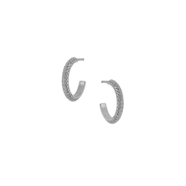 Ασημένιο σκουλαρίκι 925 κρίκος 8A-SC181-1