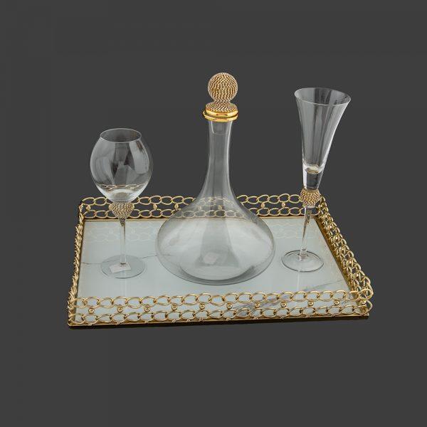 Σετ γάμου καράφα- ποτήρι κρασιού SK2211588