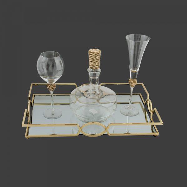 Σετ γάμου καράφα-ποτήρι κρασιού SK4211688