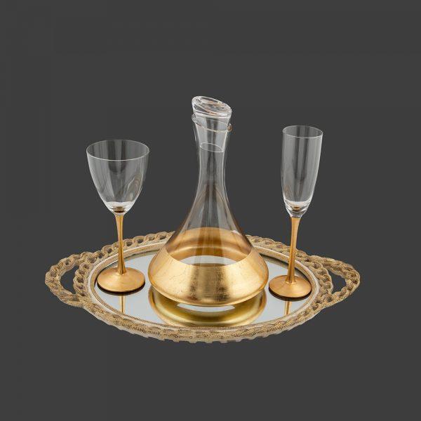 Σετ γάμου καράφα-ποτήρι κρασιού CK2481580