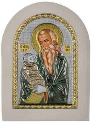 Ασημένια εικόνα του Αγίου Στυλιανού Prince Silvero MA/E1138BX-WC