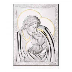 Ασημένια εικόνα Thilia η Αγία Οικογένεια 444154