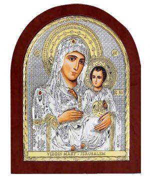 Ασημένια εικόνα Παναγία Ιεροσολυμίτισσα ΜΕ30-006